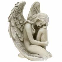 Decoratieve engel graf sieraden 16,5 cm x 12 cm H19 cm
