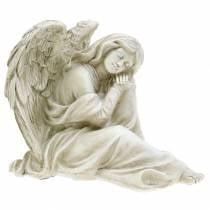Decoratieve engel zittend 19cm x 13,5cm H15cm