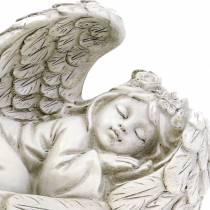 Decoratieve engel slaapt 18cm x 8cm x 10cm