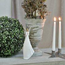Decoratief engelenfiguur wit met hart kerstversiering H31.5cm set van 2