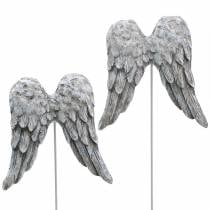 Decoratieve plug engelenvleugels 10cm 3st