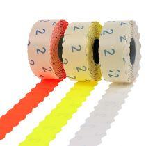 Etiketten 26x12mm verschillende kleuren 3 rollen