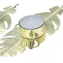 Kandelaar op veer, metalen decoratie, kandelaar, adventsdecoratie goud Ø2.2cm L13cm 4st