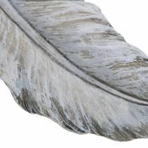Ernstige sieraden veer 18cm x 6.5cm 4st