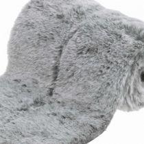 Decoratief bontlint grijs imitatiebont voor knutseltafeldecoratie 15 × 150cm