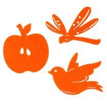 Viltstrooier decoratie oranje 24st