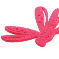 Viltstrooier decoratie roze 24st