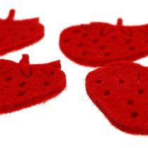 Vilt aardbeien rood 32st