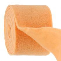 Viltlint licht oranje 15cm 5m