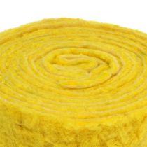 """Vilt lint """"Happy"""" geel 7,5cm 5m"""