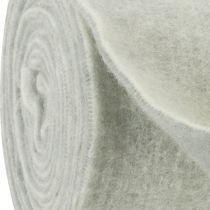 Viltband 15cm x 5m tweekleurig grijs, wit