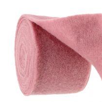 Viltband, potband oud roze 15cm 5m
