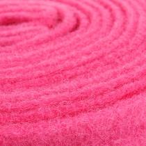 Vilt lint roze 7,5cm 5m