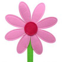 Vilt bloem roze 87cm