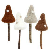 Vilten paddenstoel bruine soort. 30 cm 4 stks