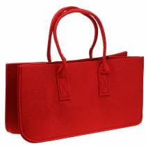 Vilten tas rood 50 × 25 × 25 cm