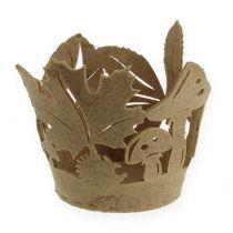 Vilten pot herfst vilt decoratie plantenbak vilt beige 2st