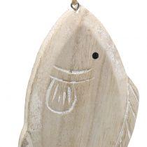 Decoratieve hangende houten vis 21cm 2st