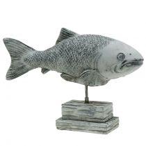 Tuinfiguur vis op de standaard H20cm