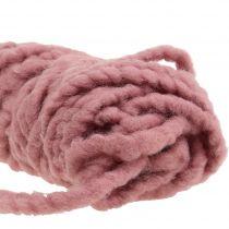 Klittenband Mirabell vilt koord oud roze 25m