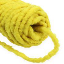 Vilten koordfleece Mirabell 25m geel