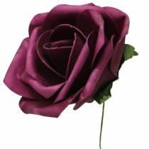 Foam-Rose Ø10cm verschillende kleuren 8st