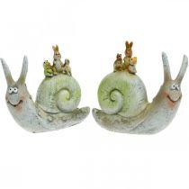 Vriendelijke decoratieve slak met metgezellen, lente, tafeldecoratie, huisslak 2st