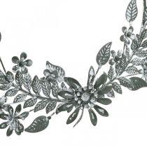 Lentedecoratie, decoratiering bloemen, metalen decoratie, hangende bloemdecoratie Ø16cm 2st