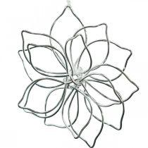 Lentedecoratie, draadbloem, metalen bloem, huwelijksdecoratie, decoratiehanger zomer 6st