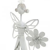 Lentedecoratie, bloemenfee, metalen lantaarn, bloesemfee met bloem 34,5 cm