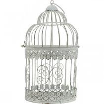Lentedecoratie, vogelkooi om op te hangen, metalen decoratie, vintage, huwelijksdecoratie 28,5 cm