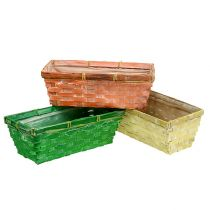 Lentemand 25x13x9cm oranje, geel, groen 6st