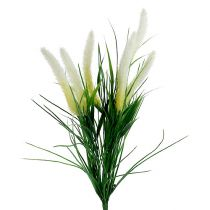 Vossenstaart grasgroen, wit 63cm