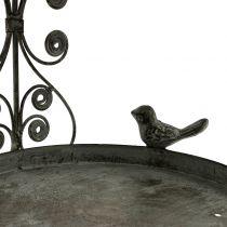 Vogelvoederhuis om op te hangen in vintage stijl H35cm