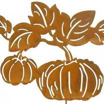 Tuinplug pompoen roest tuindecoratie herfst metaal 57cm