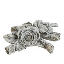 Roos voor ernstige sieraden Polyresin 10cm x 8cm 6st