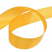 Cadeaulint decoratielint oranje zijden lint 40mm 50m