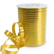 Splitband 2 gouden strips op goud 10mm 250m