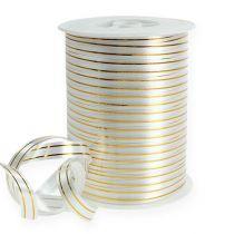 Splitband 2 gouden strips op zilver 10 mm 250m