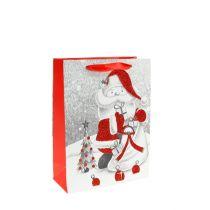 Geschenktas Kerstman 24 cm x 18 cm x 8 cm
