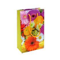 Geschenktas met bloemen 12 cm x 19 cm 1 st