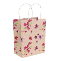 Geschenkzakken met bloemen 20 cm x 11 cm x 25 cm 6 stks