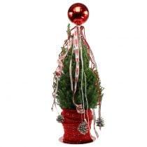 Kerstbal kunststof klein Ø14cm rood 1st