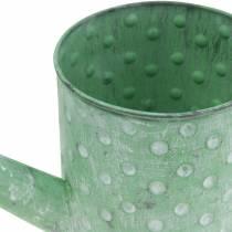 Decoratieve gieter metaal groen Ø12cm H13cm