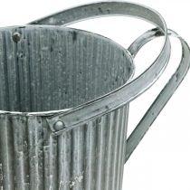 Gieter voor opplant, decoratieve metalen kan, plantenbak Ø19,5cm