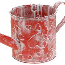 Gieter hart patroon, Moederdag, metalen kan, Valentijnsdag Ø10,5cm