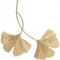 Ginkgo blad metaal Ginkgo decoratie gouden metalen decoratie 14cm 12st