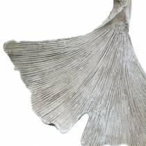 Grafdecoratie Ginkgo blad om op te hangen 10cm 3st