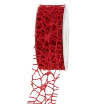 Mesh tape rood 40mm 10m