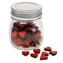 Harten rood in een glas 9 cm
